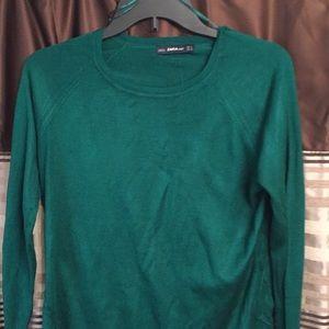 Teal light weight knit top from Zara